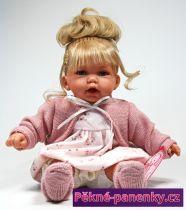 Mluvící dětská panenka s vlasama Antonio Juan® Petit 27cm