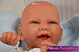 originalní španělské panenky pro děti realistické španělské panenky kluci Antonio Juan, panenky jako živé miminko, chlapeček s pindíkem mluvící panenky ze Španělska pro děti