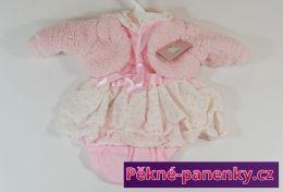 Šatičky pro panenky Berbesa® 50cm Sára růžové s kabátkem