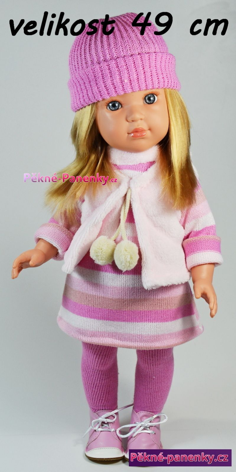 Velká realistická česací panenka